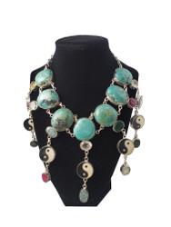 Turquoise Yin Yang Necklace