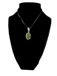 Petite Raw Emerald Pendant