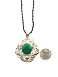 Emerald Filigree Pendant
