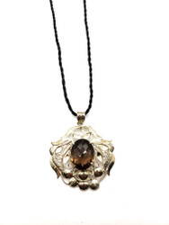 Smokey Quartz Filigree Pendant