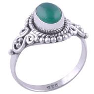 Green Onyx Petite Ring