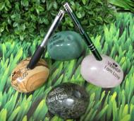 Infused Gemstone Massage Stone and Pen Holder