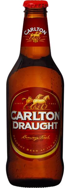 Carlton Draught 375ml Stubbies