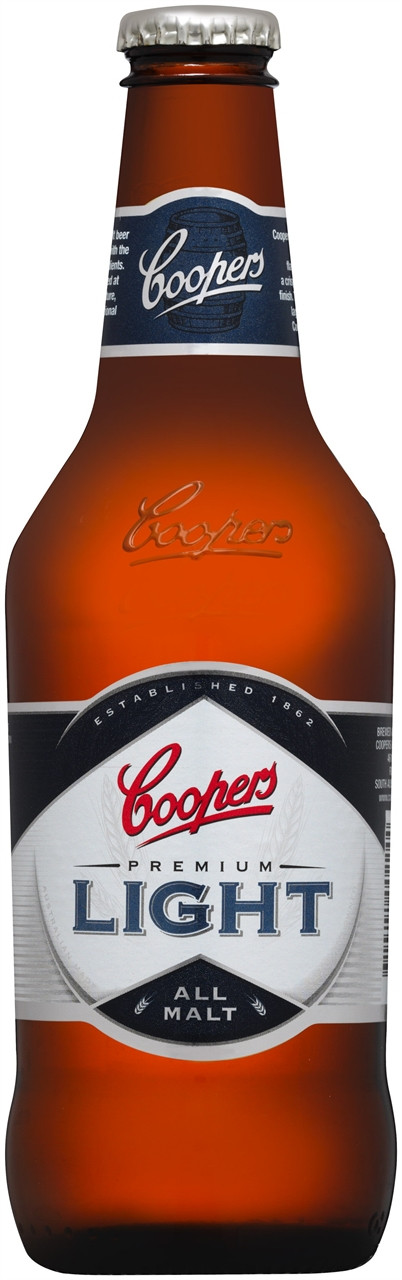 Coopers Premium Light 24 x 375ml Bottles