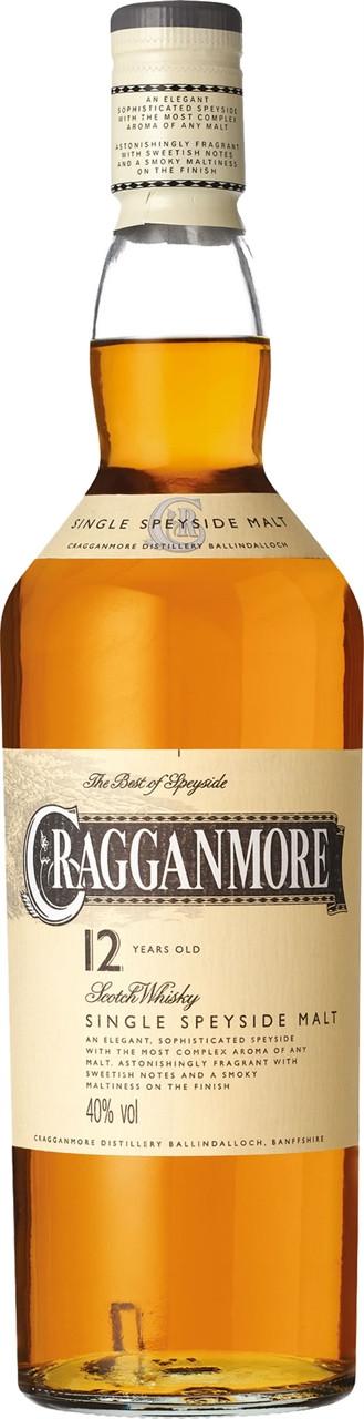 Cragganmore 12 Year Old Malt Whisky 700ml