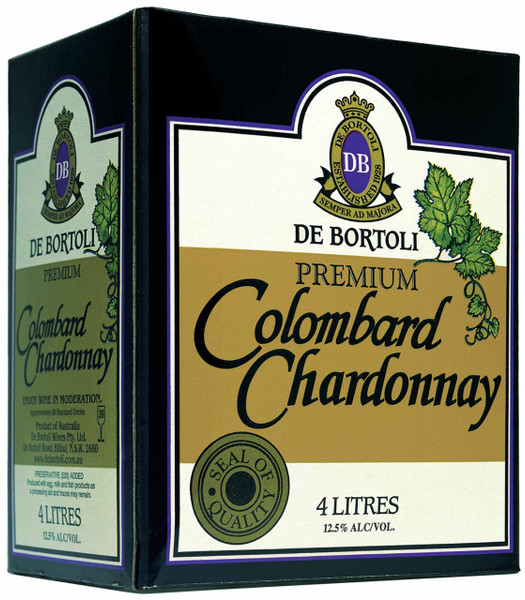 De Bortolis Premium Colombard Chardonnay 4lt Cask