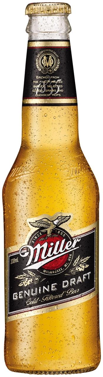Miller Genuine Draught 24 x 330ml Bottles