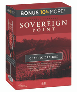 Sovereign Point Classic Dry Red 4 x  4.4lt Casks