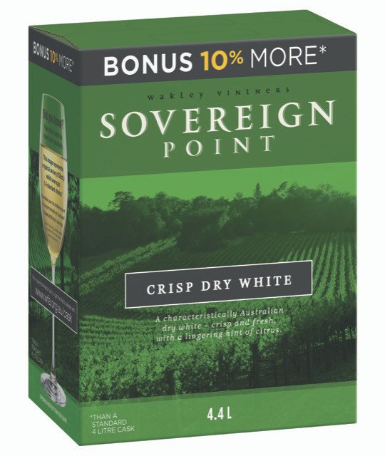 Sovereign Point Crisp Dry White 4 x 4.4lt Casks