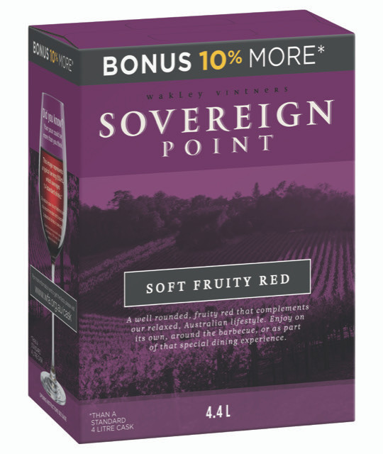 Sovereign Point Soft Fruity Red 4 x 4lt Casks