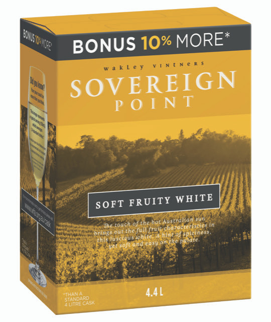 Sovereign Point Soft Fruity White 4 x 4.4lt Casks