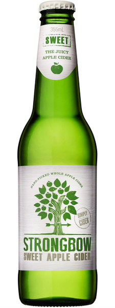 Strongbow Sweet Apple Cider 24 x 355ml Bottles