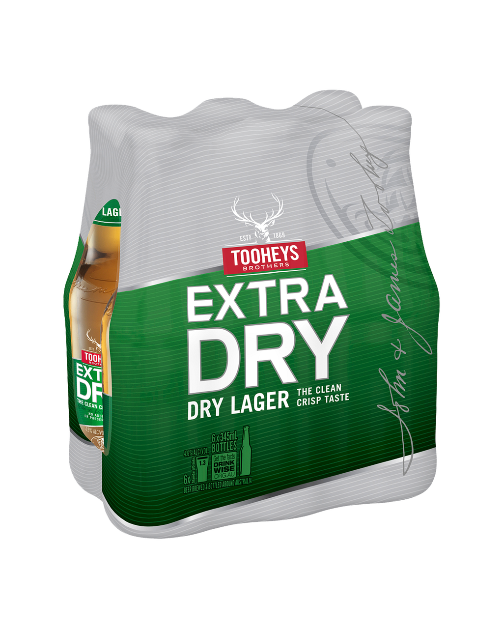 Tooheys Extra Dry 24 x 345ml Stubbies