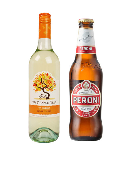 Orange Tree Pinot Grigio and Free Peroni Red Deal