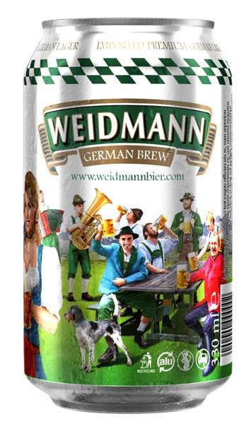 Weidmann German Lager 24 x 330ml Cans