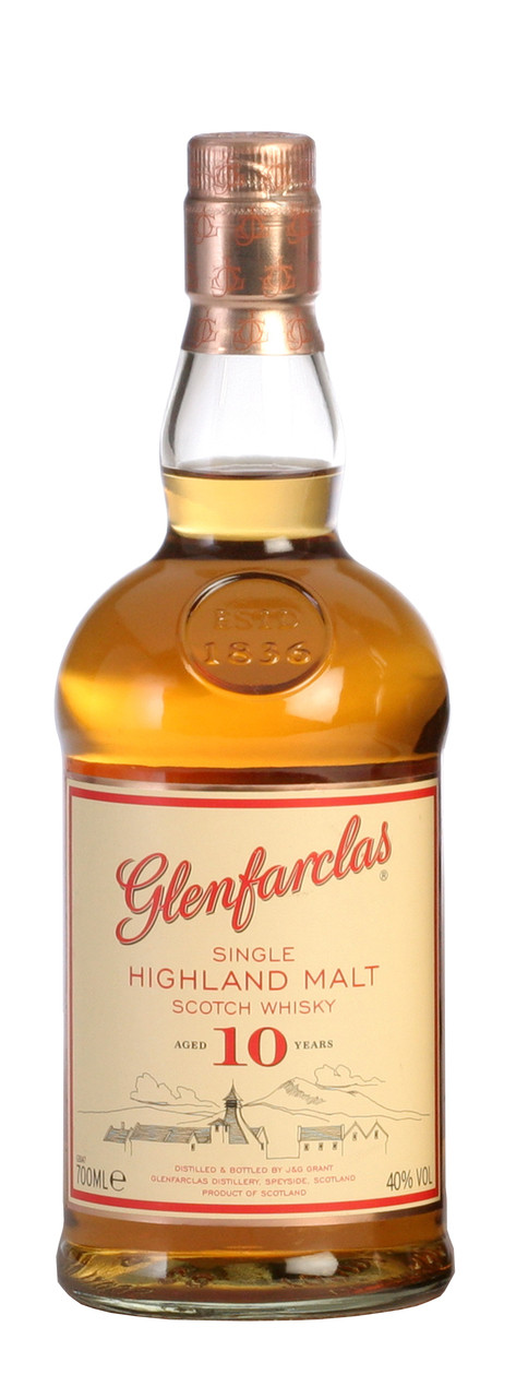 Glenfarclas 10 Year Old Single Highland Malt Scotch Whisky 700ml