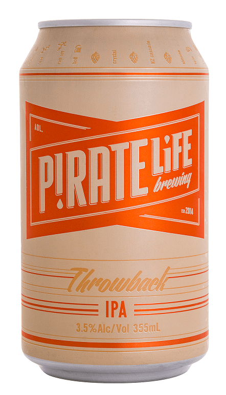 Pirate Life Brewing Throwback IPA 24 x 355ml Cans
