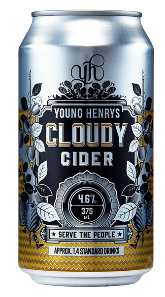 Young Henrys Cloudy Cider 24 x 375ml Cans