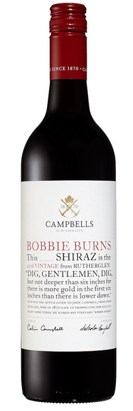 Campbells Bobbie Burns Shiraz 750ml