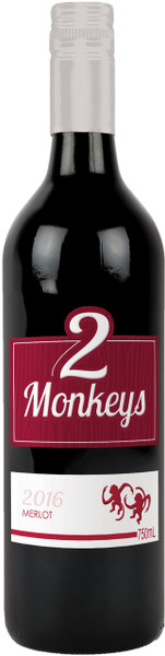 Two Monkeys Merlot 750ml
