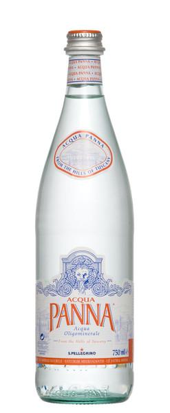 Aqua Panna Natural Mineral Water 12 x 750ml Glass Bottles