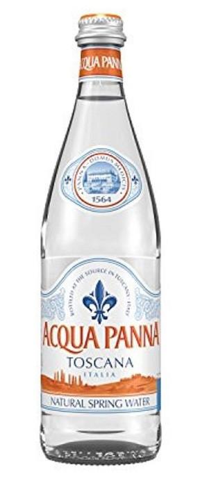 Aqua Panna Natural Mineral Water 24 x 500ml Glass Bottles