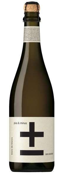 Plus & Minus Zero Alcohol Blanc de Blancs NV 750ml