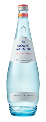 Mount Warning Lightly Sparkling Mineral Water 12 x 750ml Bottles