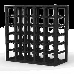 30 Bottle Lattice Cube Wine Rack Black Onyx Finish