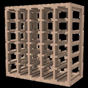30 Bottle Lattice Cube Wine Rack Rustic Hardwood Finish