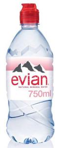 Evian Mineral Water 12 x 750ml Plastic Bottles