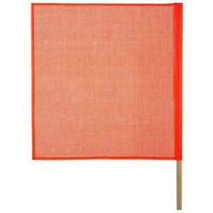 Keeper 18 in. x 18 in. Safety Flag with Wood Dowel
