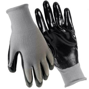 Grease Monkey Nitrile Coated Large Gloves