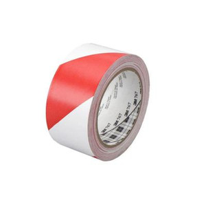 Tekk Protection 636139 2 in. x 36 yd. Red and White Safety Stripe Tape