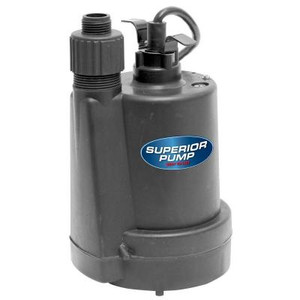 Superior Pump 1/4 HP Submersible Thermoplastic Utility Pump