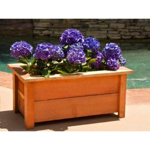 Hollis Wood Products Redwood Planter Box
