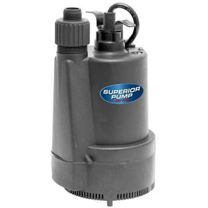 Superior Pump 1/3 HP Submersible Thermoplastic Utility Pump