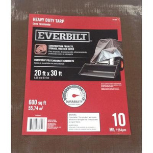 Everbilt 20 ft. x 30 ft. Silver/Brown Heavy-Duty Tarp