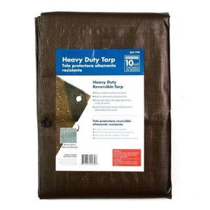 Everbilt 6 ft. x 8 ft. Silver and Brown Heavy Duty Tarp