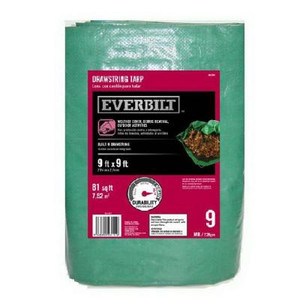 Everbilt 9 ft. x 9 ft. Drawstring Tarp