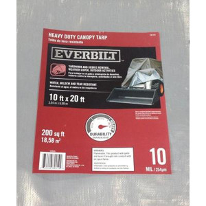 Everbilt 10 ft. x 20 ft. Heavy-Duty Canopy Tarp