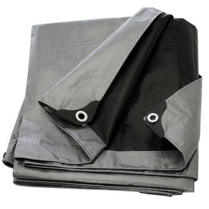 Boen 10 ft. x 20 ft. Silver Black Heavy Duty Tarp