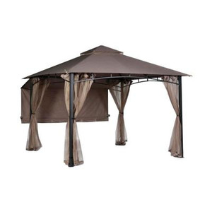Hampton Bay Shadow Hills 9.8 ft. x 9.8 ft. Roof Style Garden House Awning