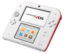 Nintendo 2DS White/Red Console