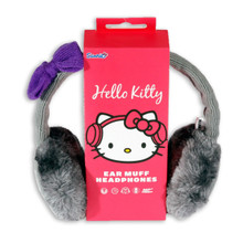 Hello Kitty Ear Muff Headphones Grey