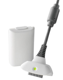 White Play & Charge Kit for Xbox 360