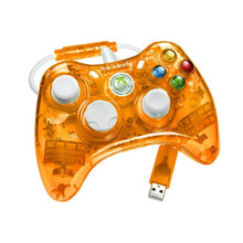 Orange Rock Candy Xbox 360 Controller by PDP - Officially Licensed by Microsoft