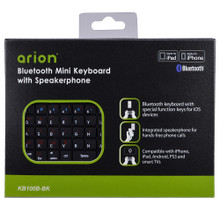 Bluetooth Mini Keyboard with Speakerphone