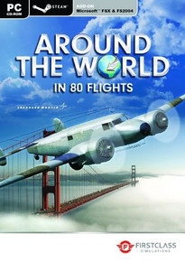 Around The World in 80 Flights  [Add-On for MS FSX and 2004] (PC)