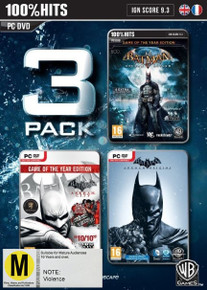 Batman 3 Pack Arkham City/Asylum/Origins (PC)